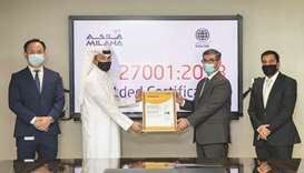 "Obtaining the ""ISO 27001"" standard confirms that Milaha has the requisite information security contr"