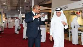 HE the Minister of State for Foreign Affairs Sultan bin Saad Al Muraikhi and British Minister of Sta