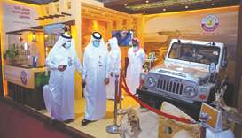 MME takes part in falcon, hunting exhibition