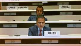 HE the Permanent Representative of Qatar to the United Nations in Geneva Ambassador Ali Khalfan Al M