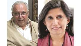 CLASH: Uxi Mufti, former executive director Lok Virsa (left), and Dr Fouzia Saeed, head of Pakistan