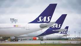 SAS said that Stockholm and Copenhagen have agreed to increase their respective stakes in the carrie
