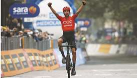Cerny wins as rain and protest sees 130km cut from race