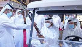 His Highness the Father Amir Sheikh Hamad bin Khalifa al-Thani visits S'hail 2020