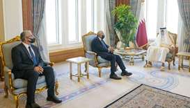 Amir meets Libyan ministers