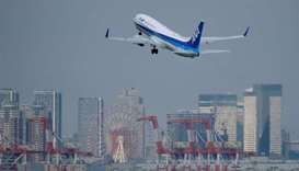 A passenger jet from Japanese carrier All Nippon Airways takes off from Tokyo's Haneda airport.