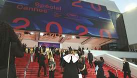 Guests arrive yesterday at the Palais des Festivals et des Congres ahead of Cannes 2020 Special, a m