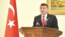 Turkish ambassador Mehmet Mustafa Goksu speaks at the embassy. PICTURE: Noushad Thekkayil