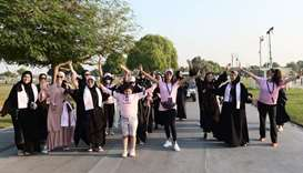 Aspire Zone Foundation holds Pink Walk at Aspire Park