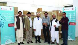 Delivery of protective supplies to health facilities in Afghanistan.