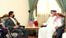 Defence minister meets US defence secretary