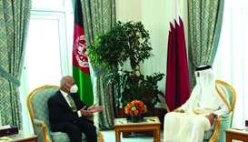 His Highness the Amir Sheikh Tamim bin Hamad al-Thani and President of Afghanistan Dr Mohamed Ashraf