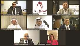 Officials from US-Qatar Business Council and IPA Qatar join other guest speakers during avirtual eve