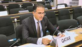 HE Qatar's Permanent Representative to the UN Office in Geneva Ambassador Ali bin Khalfan al-Mansour