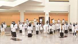 A total of 35 students received their white coats in a virtual ceremony.
