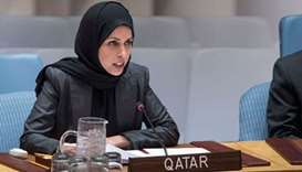 HE the Permanent Representative of Qatar to the United Nations ambassador Sheikha Alya Ahmed bin Sai