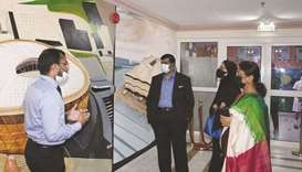The Qatar National Identity Zone – Historia Art Collective at DPS Modern Indian School was inaugurat
