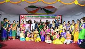Batukamma, a cultural symbol of the southern Indian state of Telangana, was organised as part of the