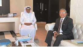 HE the President of the Qatar National Library and Minister of State Dr Hamad bin Abdulaziz al?Kawar