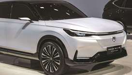 The Honda SUV prototype electric vehicle at the Auto Shanghai 2021 show in Shanghai on April 19. Hon