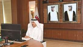 HE Chairman of the General Authority of Customs (GAC) Ahmed bin Abdullah al-Jamal attends the meetin