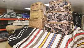 Shop owners at the souq are all set to welcome the new season with various types of tents and other