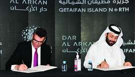Sheikh Nasser and El Chaar cement pact for the premium project in Qetaifan Island North.