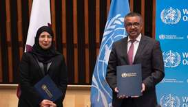 Dr Tedros Adhanom Ghrebreyesus, WHO Director-General and HE the Minister of Public Health Dr Hanan M