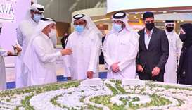 Barwa officials explain about the project coming up in Lusail.