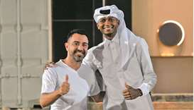 Barshim, whose brother Meshal plays as a goalkeeper for Al Sadd, interacted with players and officia