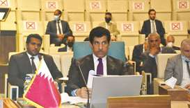 Qatar's delegation was chaired by HE the Permanent Representative to the Arab League, Ambassador Sal