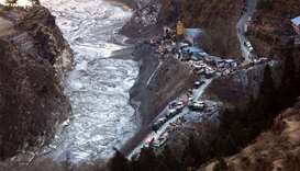 The only railway leading to the Nainital region was washed away by the flowing waters of the Jolla R