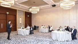 The two-day QNB workshop was based on a competitive web-based business simulation