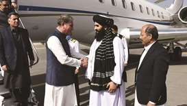 This handout photograph taken yesterday and released by the Pakistan Foreign Office shows Afghanista