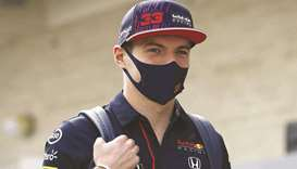 Red Bull Racing's Max Verstappen walks in the Paddock at Circuit of The Americas in Austin, Texas. (