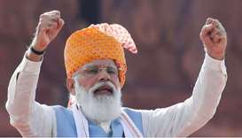 India's Prime Minister Narendra Modi said on Friday that economic growth was getting a boost from ri