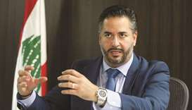 Lebanon's Economy Minister Amin Salam speaks during an interview with Reuters in Beirut on October 2