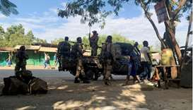 Members of the Ethiopian National Defense Force (ENDF) prepare to head to mission in Sanja, Amhara r