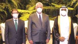 The president entrusted the ambassador to convey his wishes of health and happiness to His Highness