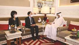During the meeting, the officials touched on the bilateral relations between the two countries and d