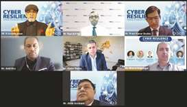 Participants of Doha Bank's webinar on 'Cyber Resilience'.