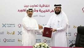 The signing ceremony was held at QC's Headquarters and was attended by Floward CEO, Abdulaziz B. al-