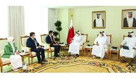 HE the Minister of Commerce and Industry, Sheikh Mohamed bin Hamad bin Qassim alAbdullah al-Thani me