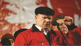 OLD GUARD: Leader of the Russian Communist Party Gennady Zyuganov.