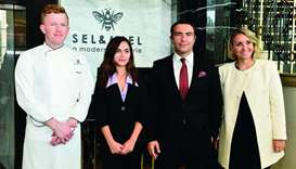 Ritz-Carlton, Doha general manager Carlo Javakhia (3rd from left) with some of his team members. PIC