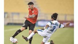 Al Rayyan's James Rodriguez (left) in actiona gainst Al Sailiya on Tuesday. PICTURE: Noushad Thekkay
