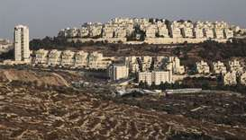 (File photo) A view shows the Israeli settlement of Har Homa in the Israeli-occupied West Bank, Octo
