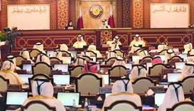 The Shura Council held its first ordinary session of the first legislative term, corresponding to th