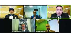 Doha Bank CEO Dr R Seetharaman joins experts during a recently held webinar.