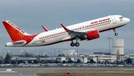An Air India Airbus A320neo plane takes off in Colomiers near Toulouse, France, December 13, 2017. R